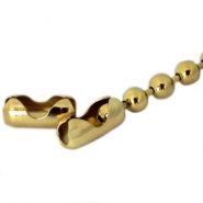 DQ slotje ball chain voor 3 mm ketting DQ gold plated duurrzame plating