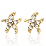 Trendy oorbellen studs seastar Gold
