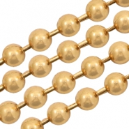 Basic Quality metaal ball chain 3mm Goud