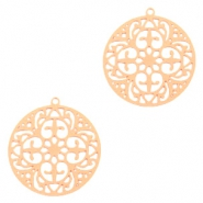Hangers bohemian rond 20mm Rosegold