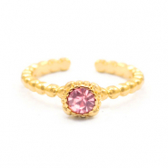 Musthave ringen dots with one stone Goud-rose (nikkelvrij)