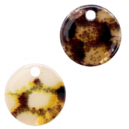 Resin hangers rond 12mm snake shiny Yellow-brown
