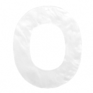 Resin hangers ovaal 48x40mm Bright white