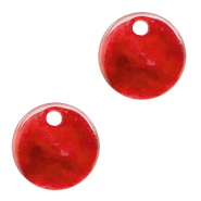 Resin hangers rond 12mm Chilli red