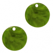 Resin hangers rond 12mm Guacamole green