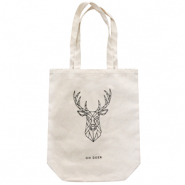 "Fashion tas canvas ""oh deer"" Off white"