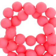 6 mm acryl kralen Hot coral pink