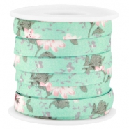 Trendy plat koord 10mm Mint groen