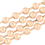 Basic Quality metaal ball chain 3mm Light rose gold