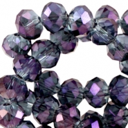 Top facet kralen 4x3mm disc Montana - violet diamond coating