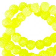 Sparkling beads 6mm Neon geel