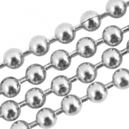 Roestvrij stalen (RVS) ball chain 1.5mm stainless steel Zilver (RVS)