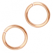 DQ 6 mm buigring DQ Rose Gold plated duurzame plating