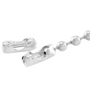 DQ slotje ball chain voor 2 mm ketting DQ Silver plated duurzame plating