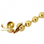 DQ eindkapje ball chain voor 2 mm ketting DQ Gold plated duurzame plating