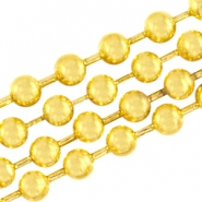 DQ Ball chain / bolletjesketting 1.2 mm  DQ Gold plated duurzame plating