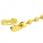 DQ slotje ball chain voor 1.2 mm ketting DQ Gold plated duurzame plating